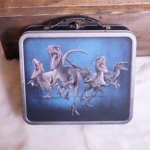 Other - ♻️ Tin Jurassic Park Vintage Lunchbox Blue Silver